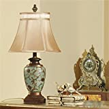 retro cabecera americana dormitorio rústico mediterránea sudeste de Asia salón den jarrón chino decorativa Lámpara de mesa