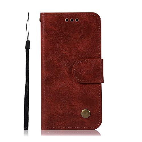 Chreey iPod Touch 5/Touch 6 Hülle, Premium Handyhülle Tasche Leder Flip Case Brieftasche Etui Schutzhülle Ledertasche, Weinrot (Mädchen Ipod-taschen 4. Generation)