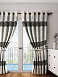 PORTIERE ZARI PANEL CURTAIN BLACK 9FT