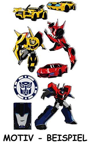 Unbekannt 7 TLG. Set Aufkleber / Sticker - Transformers  Robots in Disguise  - selbstklebend - für Jungen - Transformer Roboter Stickerset Kinder - z.B. für Stickeral..
