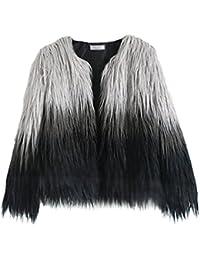 YiLianDa Cappotto Donna Pelliccia Sintetica Invernale Elegante Overcoat per Autunno e Inverno