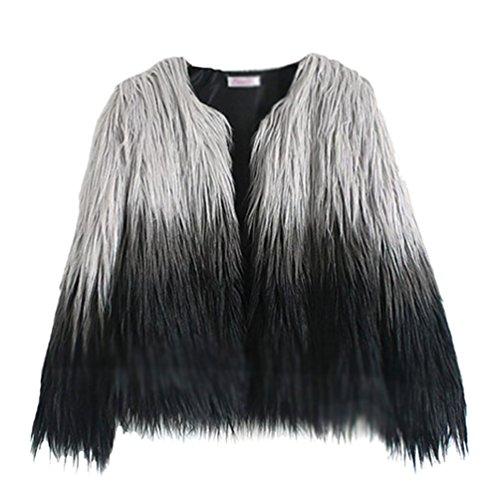 Yilianda cappotto donna pelliccia sintetica invernale elegante overcoat per autunno e inverno l