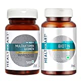 HealthKart Biotin Maximum Strength for Hair Skin & Nails-10000 mcg for, 90 tablet(s)