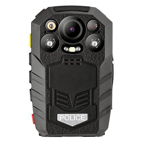 Körper Kamera Sicherheit Video Recorder,Angin-Tech Infrarot Nachtsicht HD 1296P 33Megapixel Polizei Körper Getragen IR Kamera Eingebaut GPS Unterstützung Motion Detection Überwachungskamera Körperkamera (Körperkamera03-32G)