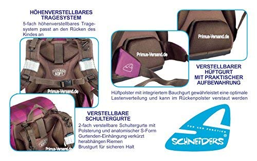 Olivia the Owl Eule Schulranzen Set TOOLBAG SOFT Schneiders u. passende Federtasche Sporttasche Schultüte Schmuckaufsatz-Set Set 14 tlg. – 78405-0513 - 5