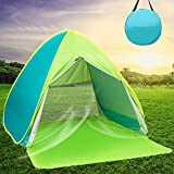 DIOSN Pop Up Beach Tent Beach Shade for 1-4 Persons,UPF 50 + UV