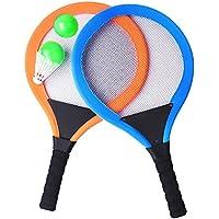 YIMORE Raquetas de Tenis Bádminton con Bolas 2 en 1 Juguete para Niños Juego de Playa al Aire Libre para Niños