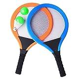 YIMORE Tennisschläger Badminton Racket Set mit Bälle 2 in 1 Strand Draußen Spielzeug für Kinder ab 3 Jahren, Blau und Orange