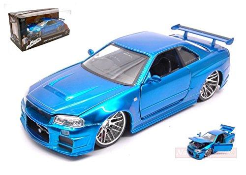 1:24 Jada 97173 Brian's Nissan Skyline GT-R (R34) Blaumetallic Fast & Furious