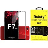 Dainty Tempered Glass Screen Guard for Oppo F7 (6.23 inch, Black Colour, Full Glue Edge to Edge Glass)