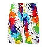 Hiroo Calzoncini Corto Uomo da Mare da Surfe e Spiagia Stampato Costumi Da Bagno Travel Short Pantaloncini Da Surfe Pantaloni larghi casuali Super cooler Watershorts (XX(AsianXXL=EUXL), Multicolore)