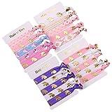 Mciskin Unicorn coloré Cheveux Ties Bracelet dragées cadeaux d'anniversaire Fournitures, élastique Queue de cheval Supports Décorations pour fille et enfant (lot de 20)