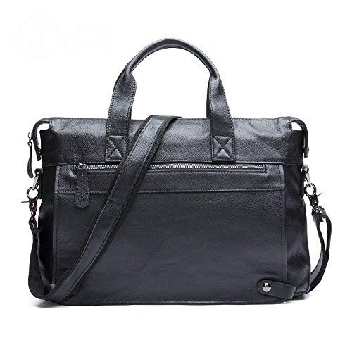 INTER FAST Aktentasche Herren Business Aktentasche Casual Schulter Messenger Bag Tragbare Tote Erste Schicht Leder Herren Tasche