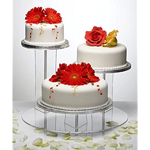 Mushroom Design 3 Position Tiered Clear Acrylic Party Wedding Cake Display  Stand