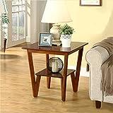 YXLAB Beistelltisch 2 Tier Side Couchtisch Tray Sofa Nachttische Couch Zimmer Konsole Ende Stehen aus Holz (Farbe : Nussbaum)