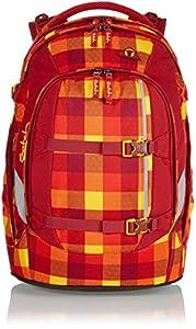 SATCH Firecracker Schulrucksack SAT-SIN-001-9A8, 45 cm, 30 L, Red Yellow Checks
