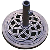 DC America UBP18181BR 45,72 cm paraguas fundido piedra Base, sin óxido compuesto fabricado en materiales, acabado bronce recubiertos de polvo y