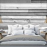 murando - Fototapete 300x210 cm - Vlies Tapete - Moderne Wanddeko - Design Tapete - Wandtapete - Wand Dekoration - Bretter holz Textur braun rosa grau f-B-0045-a-d