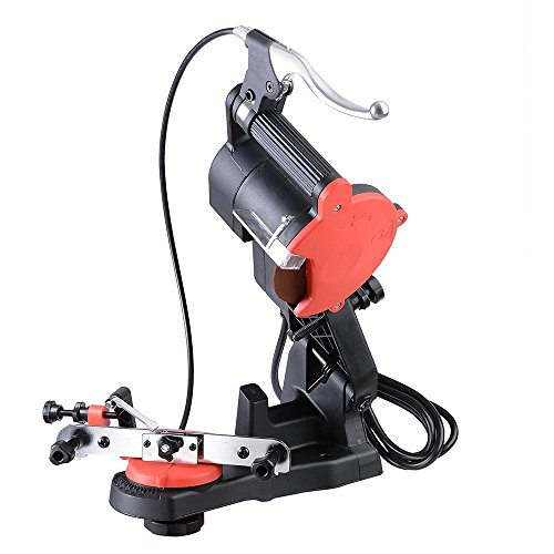 ReaseJoy 85W 230V Electric Bench Chainsaw Sharpener 4800RPM Chain Saw Blade Grinder with Brake Handle