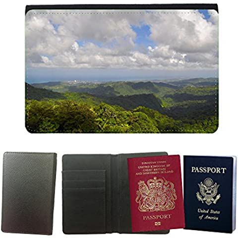 Couverture de passeport // M00168945 Forest Hills Ver Paisaje Panorama // Universal passport leather