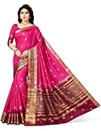 MSRETAIL Women's Silk Self Design Kanjivaram Saree