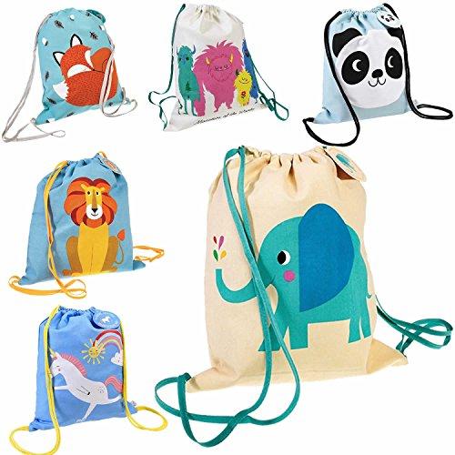 LS Design Kinder Turnbeutel Sportbeutel Elefant Dino Rucksack Schultasche Backpack