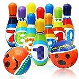 Twiddlers Juego de Bolos Suave para Niños - Bowling Set Incluye 10...