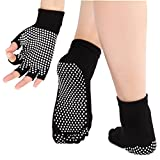 Best Yoga Gloves - JJunLiM Women Yoga Socks and Gloves Set With Review