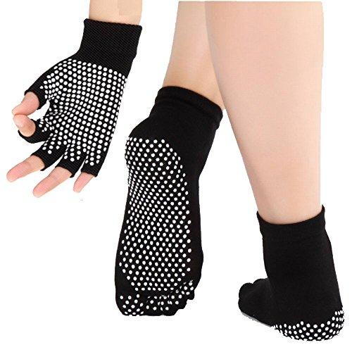 Calcetines y guantes de yoga de las mujeres con...