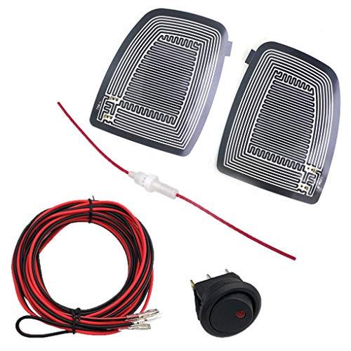Glasheizung Demister Pads, Auto-Rückspiegelglas Schnell beheiztes Pad, Auto-Außenspiegelheizung Defogger Benutzerdefiniert mit Schalter Passend