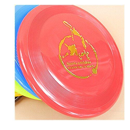 Spritech (TM) Frisbee para perros resistente a las mordeduras para entrenar con tu perro al aire libre, color al azar.