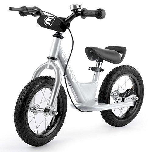 ENKEEO Bicicleta sin Pedales para Niños, Bicicleta de Equilibrio 12 Pulgadas, Asiento Ajustable y Manillares Tapizados para Niños Pequeños de Menos de 110 cm de Altura, Capacidad 50kg
