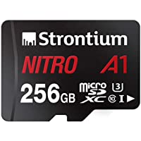 Strontium Nitro A1 256GB Micro SDXC Memory Card 100MB/s A1 UHS-I U3 Class 10 with High Speed Adapter for Smartphones…
