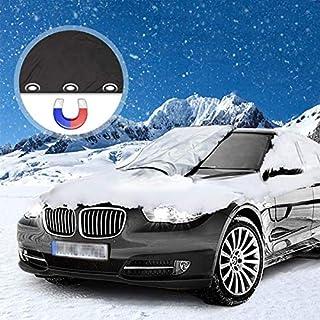 Frontscheibenabdeckung Auto, Frostabdeckung Windschutzscheibe, Scheibenabdeckung Magnet Fixierung Faltbare Abnehmbare Windschutzscheibe Abdeckung gegen Schnee, EIS, Frost, Staub, Sonne