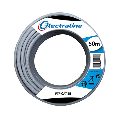 Electraline - 101843 red ethernet cable cat5e ftp