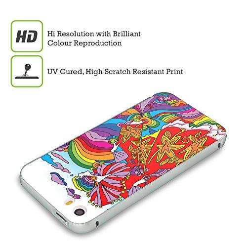 Ufficiale Howie Green Mucha 116 3 Donne Astratte Argento Cover Contorno con Bumper in Alluminio per Apple iPhone 5 / 5s / SE Regina Arcobaleno