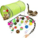 WeFine Cat Toys 21Pcs Kitten Toys Cat Interactive Toys Set for Indoor Cats