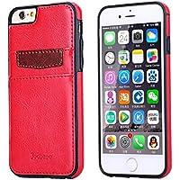 Ducomi® Duke of Palma custodia protettiva con tasca porta carte di credito in vera pelle compatibile con iPhone 6 6s (Red)