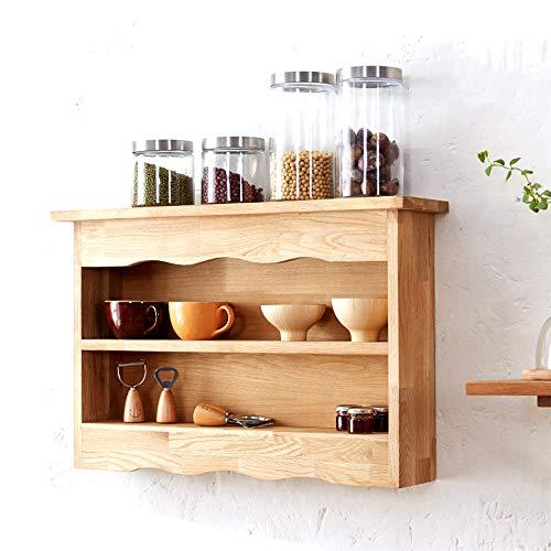LARRY SHELL Wandschrank, Aufbewahrungsorganisator, Medizinschrank Küchenregale Massivholz Badezimmerschrank Langlebig und umweltfreundlich, für Waschraum, Waschküche