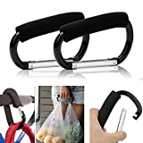 Gankarii® 2pcs Strong Durable Large Buggy Carabiner Hooks Mummy Clip Pram Pushchair Shopping Bag Holder - 14cm (5.5 )