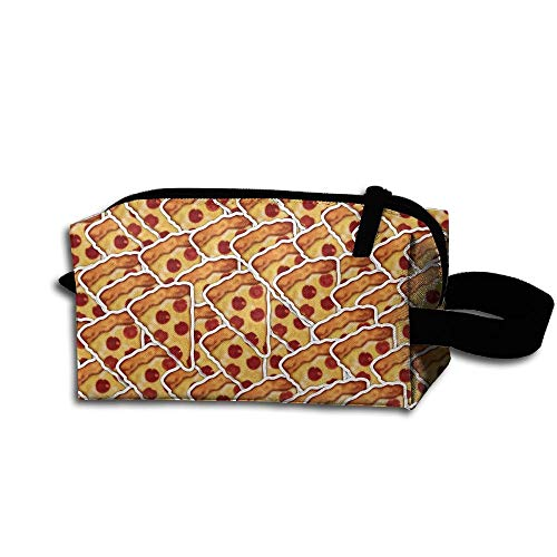 Cosmetic Makeup Bag Pizza Fast Food Pouch Toiletry Storage Bag Portable Lightweight Travel Toiletry Bag for Women Girls Rectangle Food Storage