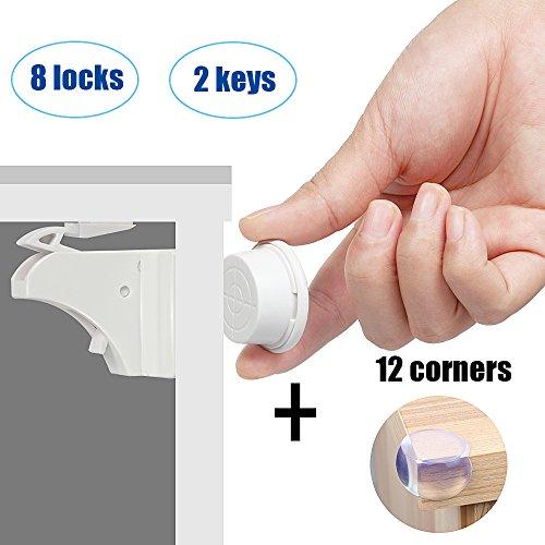 Cerradura invisible magnética para la seguridad del bebé Bloqueo totalmente invisible -...