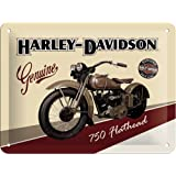 Cartel de chapa 15x20 -Harley-Davidson Flathead