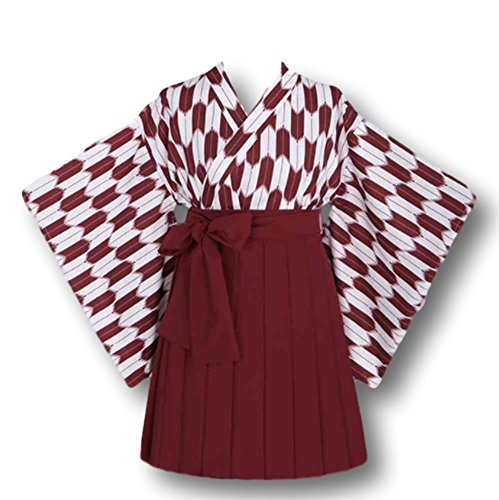 Double Villages Japanischen Stil Kimono Bademantel Kleid Anime Cosplay Kostüm Yukata Serie Japanischen Sommer Nettes Mädchen Anime Cosplay ()