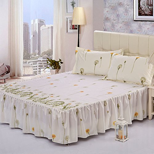 ZYBCQL Jupe de lit Couvre-lit Ensembles de lit Simple Couverture de lit Feuille Korean -I 150x200cm(59x79inch)