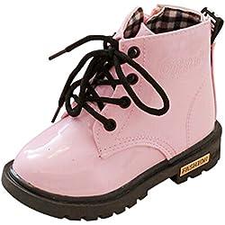 Hiroo Niños Cómodo para caminar bebés refrescan la zapatilla d Invierno grueso nieve bebé vendaje casual zapatos Toe Elastic Stretch Botas de tacón grueso