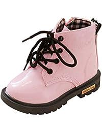 Hiroo Niños Las muchachas de los bebés refrescan la zapatilla d Invierno grueso nieve bebé vendaje casual zapatos Cómodo para caminar Toe Elastic Stretch Botas de tacón grueso
