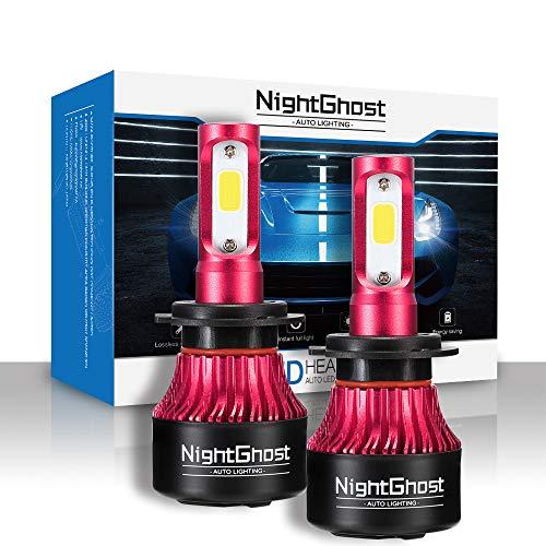 Nightghost H7 LED faro 72W 9000LM, 6500K, 9V-32V, Fari Abbaglianti o Anabbaglianti per Auto, Kit Lampada Sostituzione per Alogena Lampade e Xenon Lu