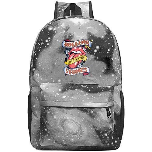 Black Galaxy Stone (Unisex Child Galaxy Bookbag Rolling Paint It Black-Stones Backpack Bag for Boys Girls Teens)