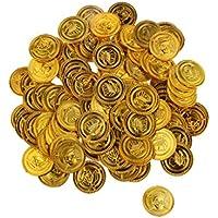 100 Piezas Monedas de Cumpleaños Oro del Pirata Acuñar Piñata